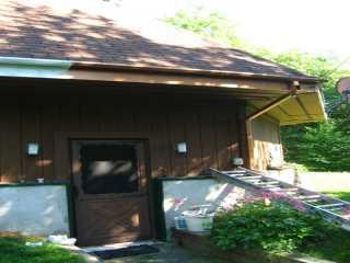 Copper trim on roof edge