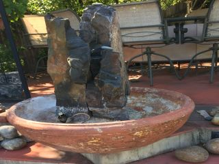 Fountain before application of copper paint
