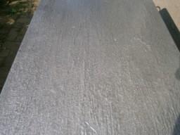 Closeup of lead coated copper finish