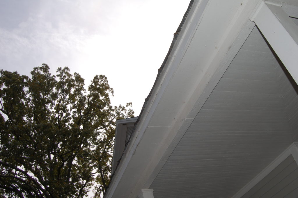 edge of house